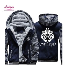 Luogen US Size Casual Hoodies Men Women For Anime Overlord Ainz Ooal Gown Albedo Jacket Sweatshirts Thicken Hoodie Coat Clothing