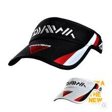 Daiwa Summer Empty Top Fishing Hat Quick-Dry Fishing Cap Breathable Long Brim Baseball Sun Cap Hat Visor Drop Shipping