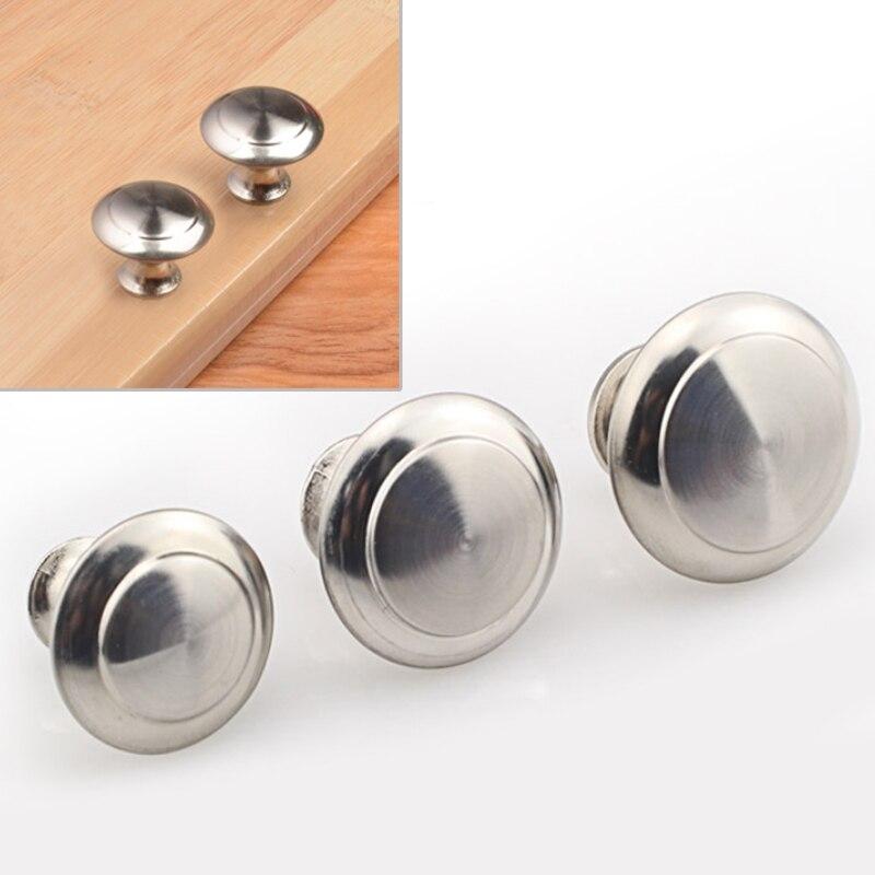 Cupboard   Drawer  Kitchen 1pcs  Stainless Steel  Handles  Knobs Round  Screw