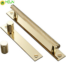 Gold Knurled/Textured modern kitchen cabinet knobs and handles Drawer Pulls Bedroom Knobs Brass T Bar Cabinet Hardware