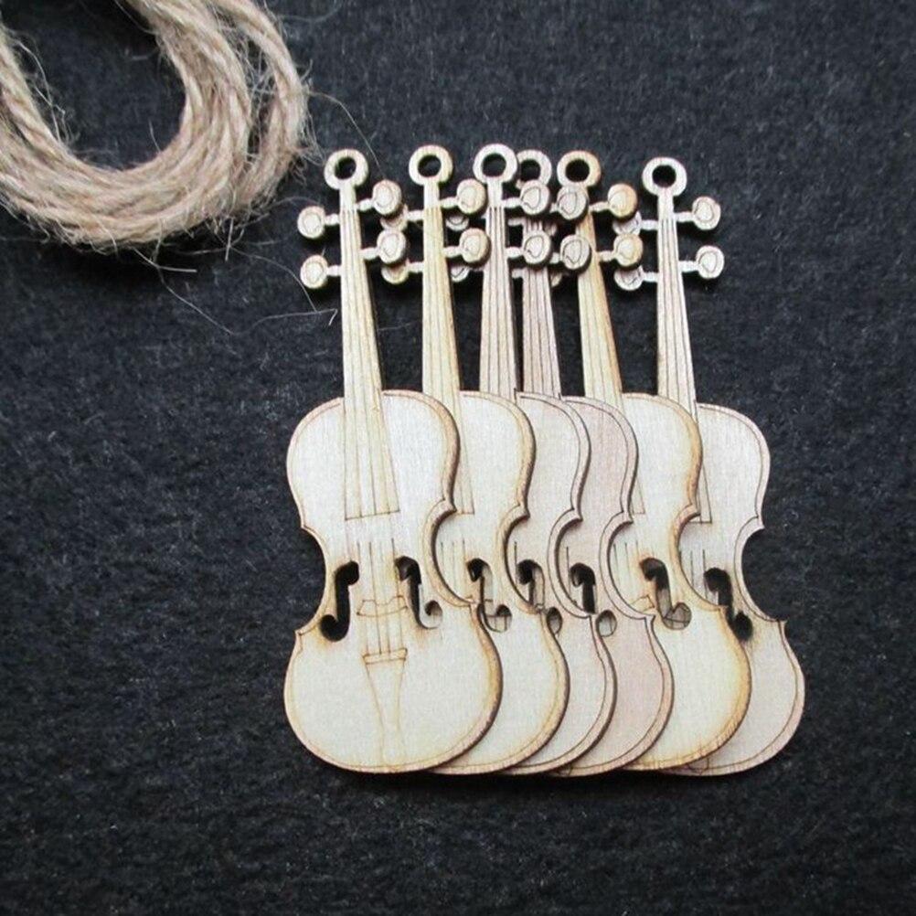 10 piezas de virutas de corte de madera sin terminar para piezas de juegos de mesa, adornos de proyectos de artes artesanales (violín) 1: 70 Kits de modelo de barco de madera ensamblado clásico de modelado de velero de madera de juguete de acorazado ofrecen instrucciones en inglés