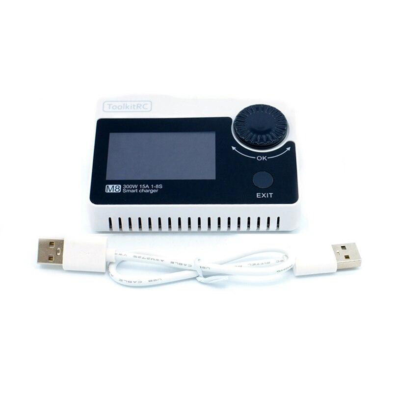 ToolkitRC M8 DC 300 W 15A Smart Batterie chargeur de balance Déchargeurs Haute Puissance LiPo Chargeur pour 2-8 S Li -po Batterie