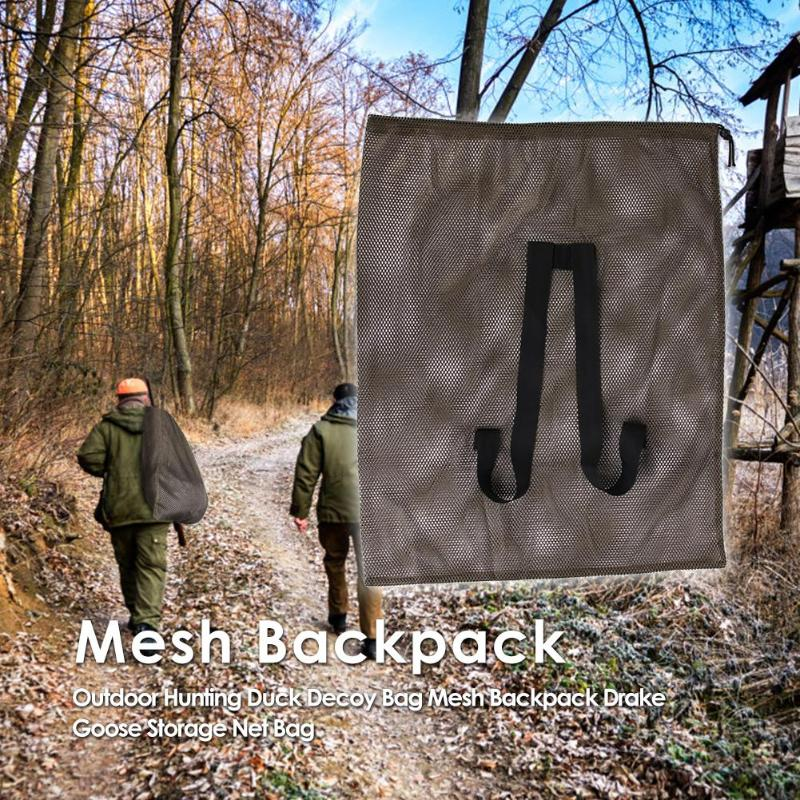 Outdoor Hunting Duck Decoy Bag Mesh Backpack with Shoulder Straps Drake Goose Storage Net Bag Polyester Mesh Army Green 100 x 75 ru aliexpress com мотоутка