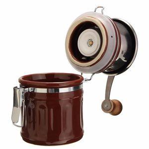 Image 2 - 레트로 스테인레스 스틸 세라믹 수동 커피 콩 그라인더 너트 밀 핸드 그라인딩 도구