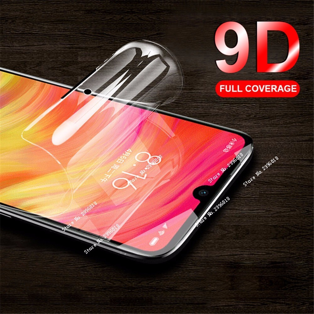 9D Screen Protector <font><b>Hydrogel</b></font> Film On For Xiaomi <font><b>Redmi</b></font> 5 Plus Note 5 6 7 Pro MI 9 SE 6 7 MI Play Full Protective Film Not Glass image