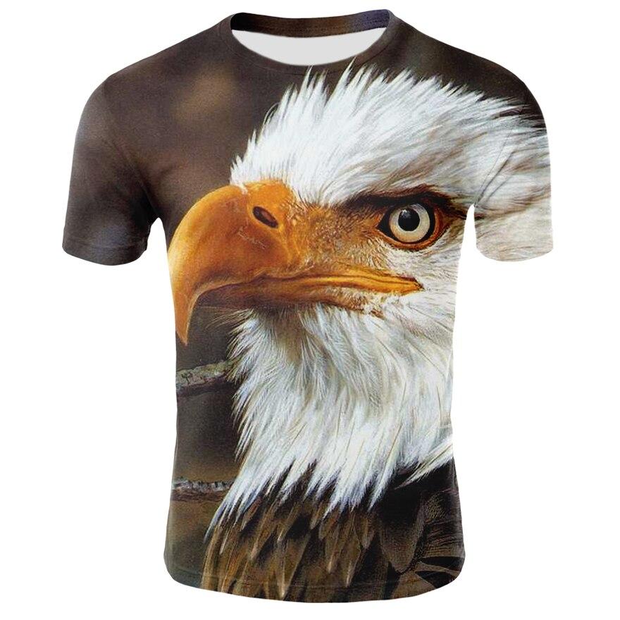 3D Printed Eagle T Shirt Men Short Sleeve Shirt Hip Hop Street Clothing Men Women Eagle T Shirt Dropship Summer Tee Shirt Homme