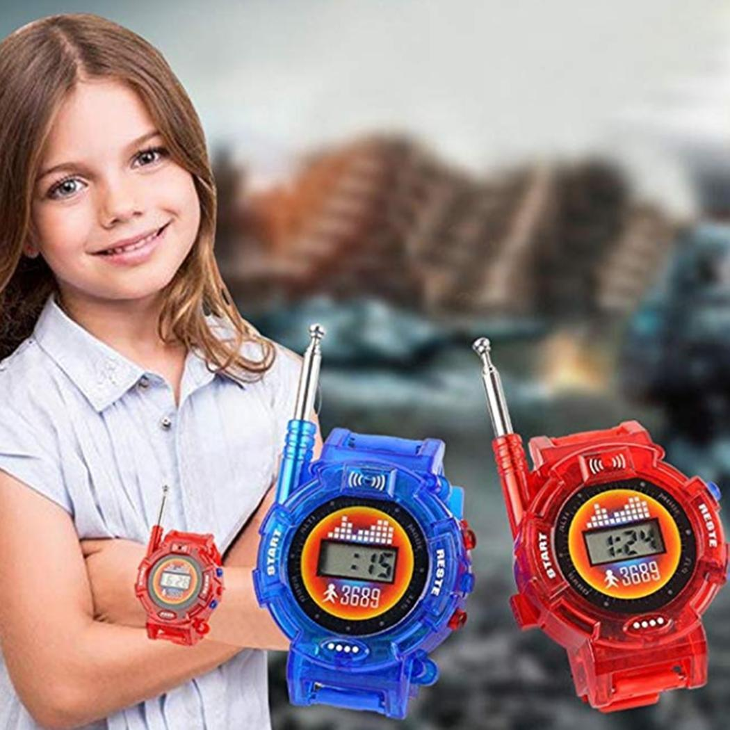 100M Display Radio Talkie Without Toy Way 3Years Red Interference Two Blue 50 Kids Digital Portable Watch Walkie Mini