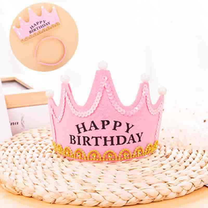 Happy Birthday Tiara Crown For Women Hairband Kids Girls Sweet 18th Party Accessories Decorations Baby