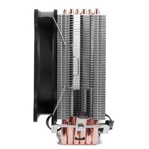 Image 2 - שלג 4PIN מעבד קריר 6 heatpipe אחת מאוורר קירור 12cm מאוורר LGA775 1151 115x1366 תמיכת אינטל AMD