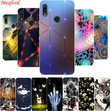 6.09 Cover For Huawei Y6 Pro 2019 Case Cool Print Soft Silicone TPU Phone Floral Funda Coque