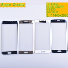 10Pcs/lot For Samsung Galaxy S6 edge G925 SM-G925V SM-G925P G925F G9250 Touch Screen Front Glass Panel TouchScreen Outer Lens new lcd screen display digitizer assembly for samsung galaxy s6 edge g9250 g925v g925f free shipping