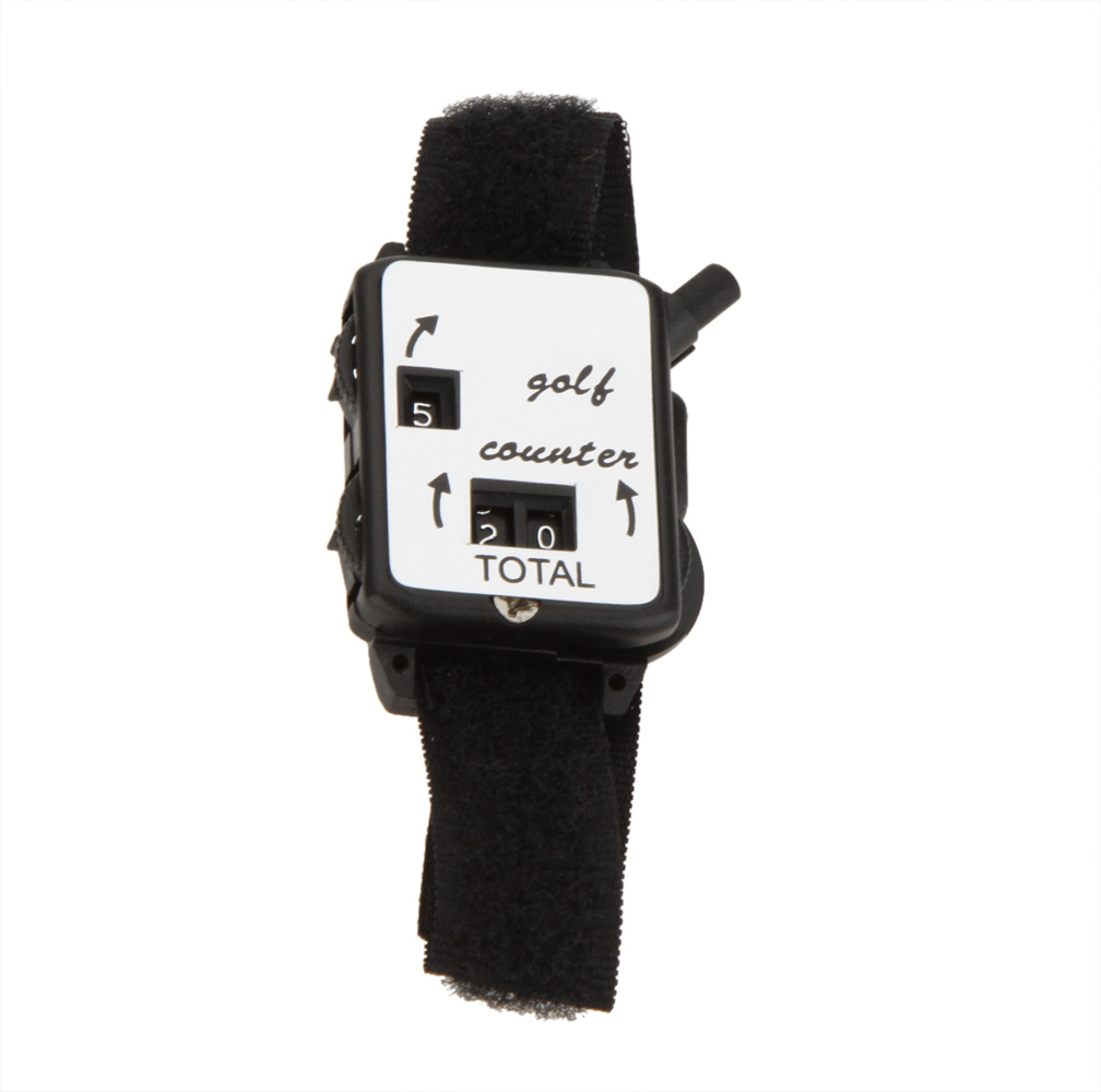Image 2 - Black Golf Training Aids Wristband Golf Club Stroke Score Keeper Count Watch Putt Shot Counter Sports Golf Accessories-in Golf Training Aids from Sports & Entertainment