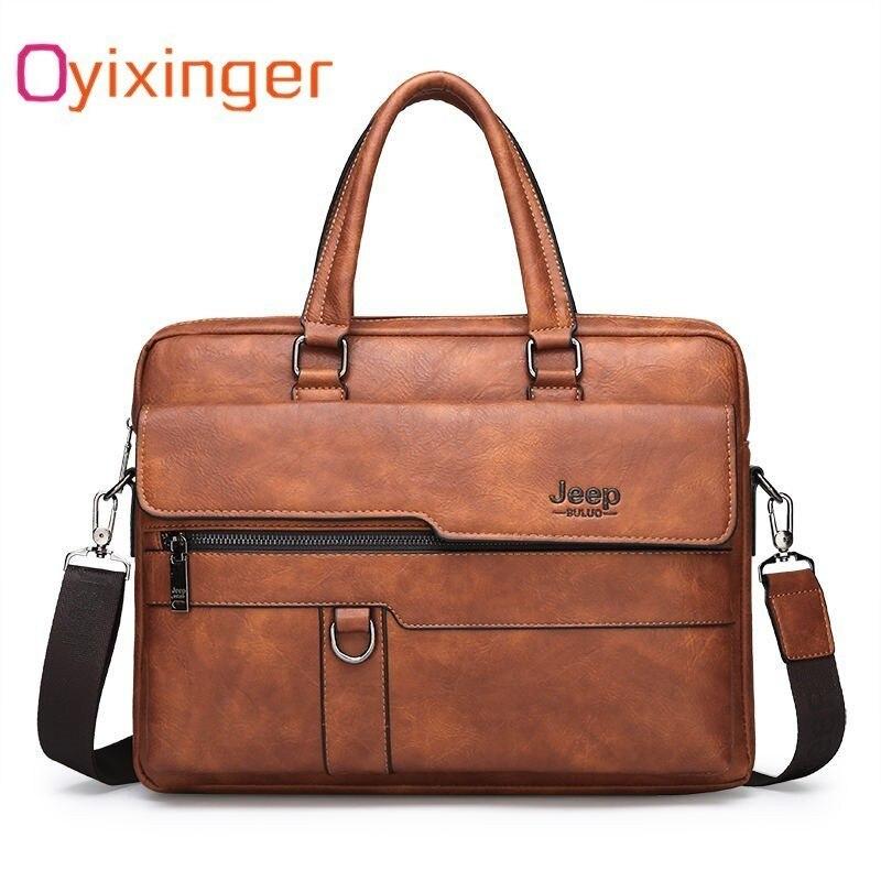 d23e6c34b6ab 2019 мужская деловая черная Повседневная сумка портфель из ПУ-кожи мужские  сумки коричневые высококачественные мужские