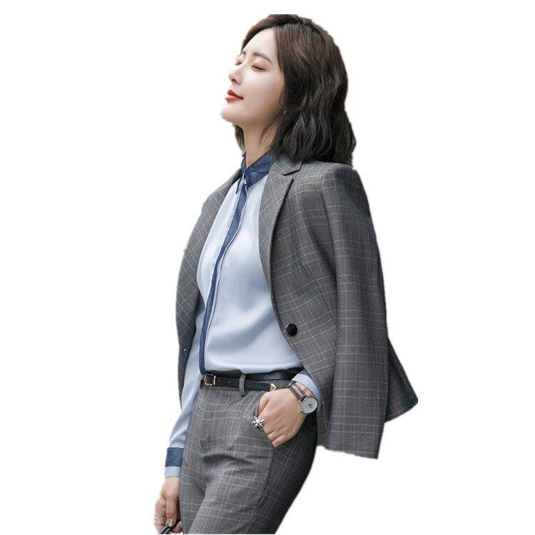 Loisirs Yellow Et grey Nouveau robe Gothique Costume Hiver Pantalon De Coréenne Chemise Petit Manches Femme Temps Ol Costume Modèle Chaparejos Mode Treillis RwxrPRS