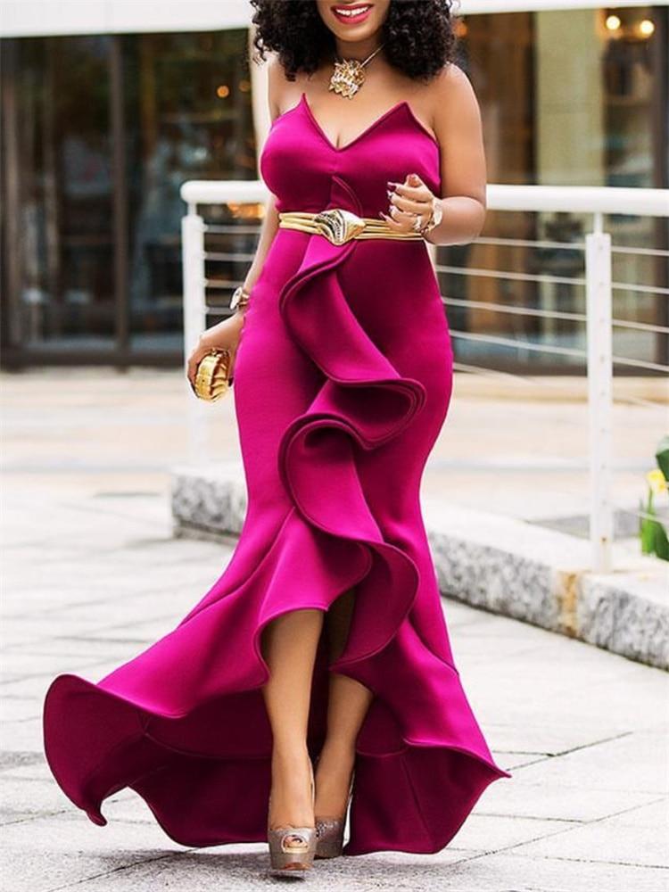 Mulheres Maxi Vestido de Festa Plissado Sexy Apertado Elegante Backless Celebrate Dinner Party Club Evening Bodycon Longo Robes Túnica Plus Size