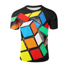 YELITE Poker T shirt Playing Cards Clothes Shirts Peach Heart Tshirt Rubiks Cube Tops Men Funny Harajuku Summmer T-shirt