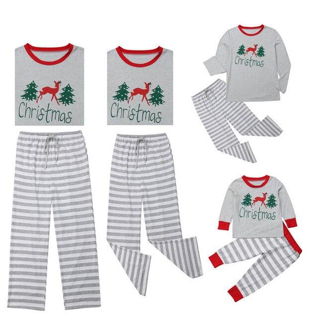 Familia Juego Trajes Navidad Pijamas De Ropa De 2018 Madre Padre