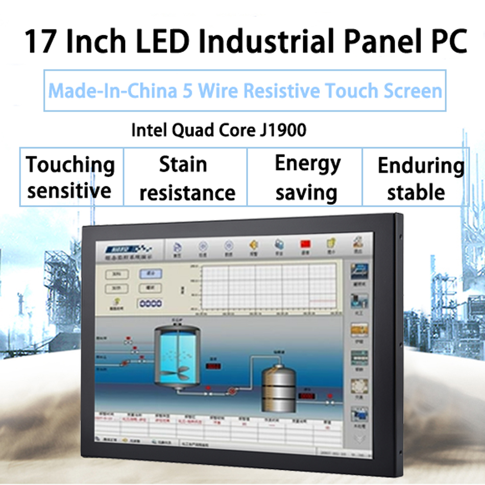 17 Inch LED Industrial Panel PC ,5 Wire Resistive Touch Screen,Intel Celeron J1900,Support Win10 Or Linux Ubuntu,[DA04W]