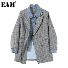 chaqueta Color impreso gris