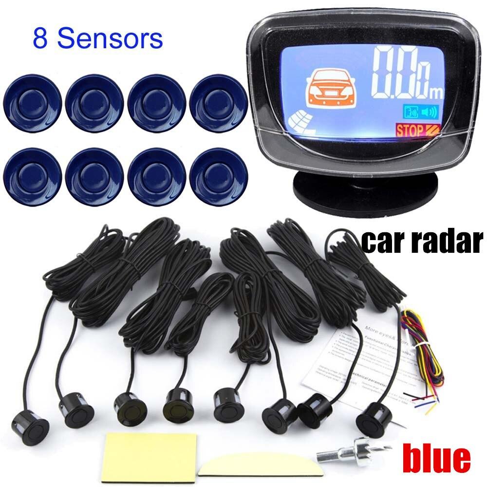 22,5mm Parkplatz Sensor Kit 8 Sensoren Display Auto Reverse Backup Radar Monitor System Summer LCD monitor Alarm alarm BeBe laut