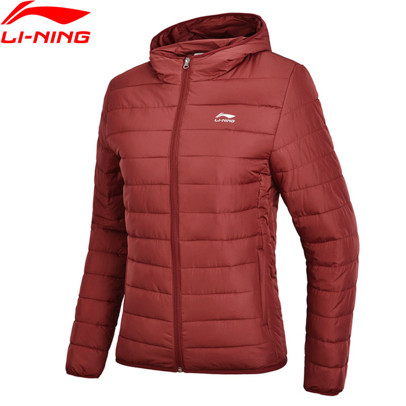 Li Ning Women s The Trend Series Wadded Jackets Hooded Solid 100 Polyester Regular Fit LiNing