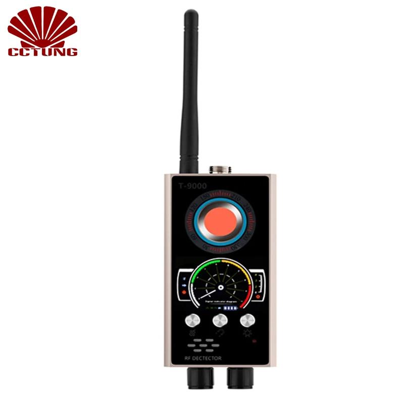 Dernier détecteur tout en un avec Anti-candide Anti-suivi Anti-espion Anti-écoute pour caméra infrarouge contrôle de sécurité des écouteurs