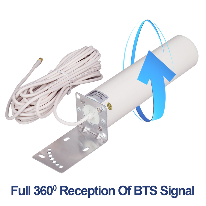 4G LTE WiFi Outdoor Antenna 12dBi External Antenna With N Female 10m SMA-M Connector For Huawei Routers Omnidirectional Outdoor
