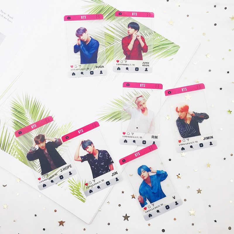 SGDOLL 2019 Kpop 1 Bangtan мальчики муфта ПВХ прозрачные карты Ins скриншот Jungkook Suga RM Jimin Jhope Jin V фото карты Новый
