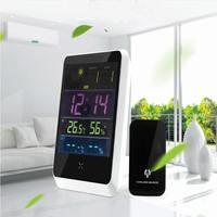 LCD Wireless Weather Station Meter Sensor Digital Alarm Clock Temperature Date Timer Display Thermometer Hygrometer Tools