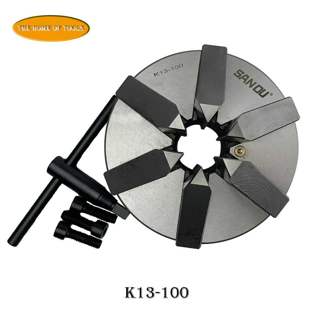 SAN OU 6 mâchoires tour mandrin auto centrage 4 ''Six mâchoires auto centrage K13-100 pour CNC diamètre de fraisage 112mm