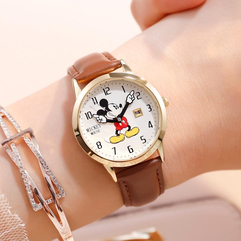 Disney Kids Watch Children Watches Genuine Brand Luxury Clock Watch Mickey Casual Fashion Cute Quartz Wristwatches