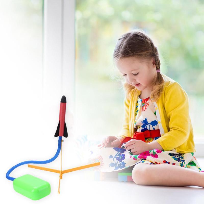 Children's Toy EVA Safety Sports Kids Toys Kids Air Pressed Rocket Launcher Step Pump Set Air Pressed Rocket Launcher Pedal Toy