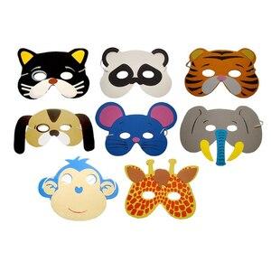 Image 5 - Creative 10Pcs Funny EVA Children Animal Mask Mask Kids Woodland Farm Dress Prop Birthday Party Decoration