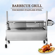 Купить с кэшбэком ITOP BBQ Grills Electric/Manual Automatic Rotation Barbecue Grills For Outdoor Kitchen Tools Stainless Steel Pig Lamb Roaster