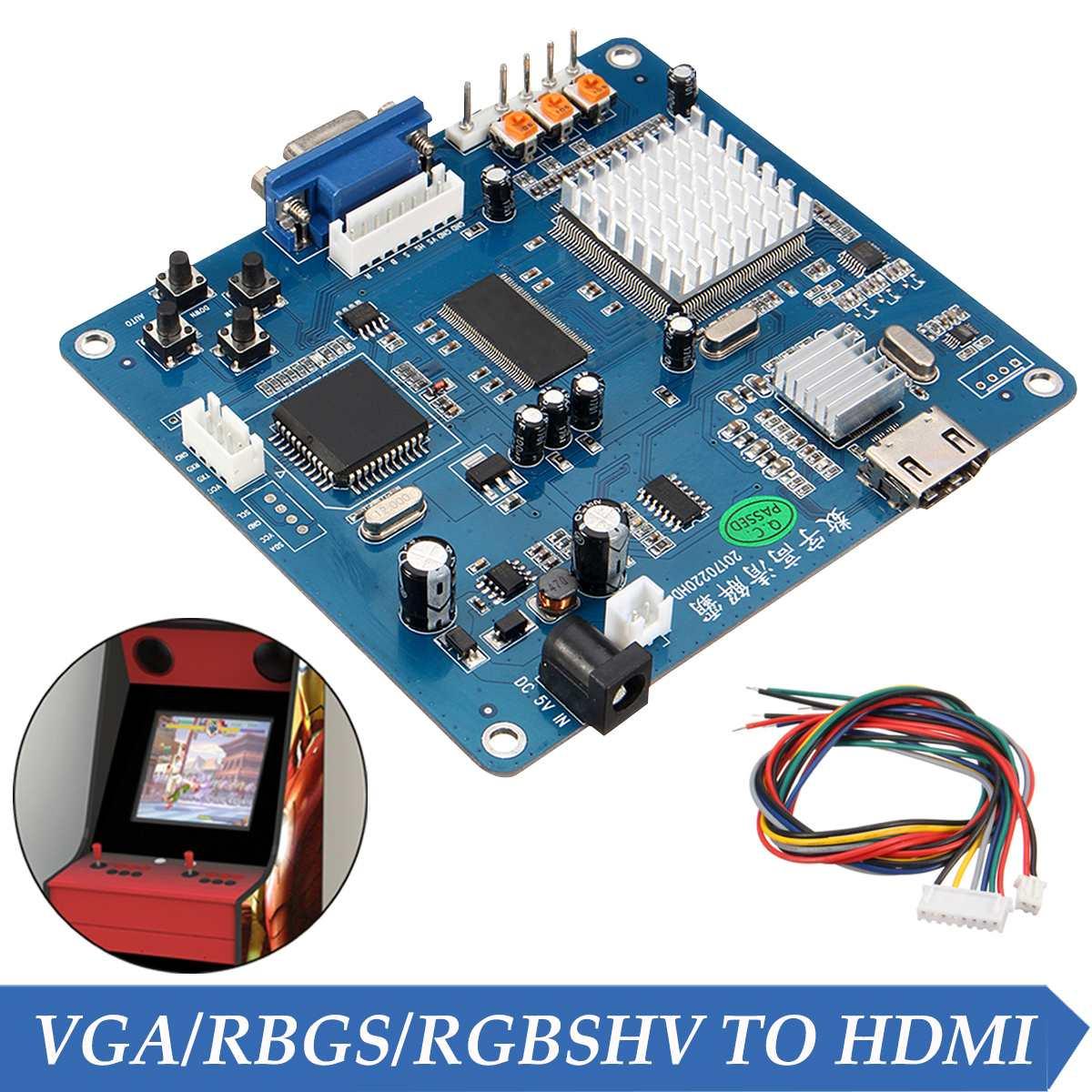 Convertisseur de carte de sortie vidéo de jeu d'arcade VGA/RGB/CGA/EGA/YUV vers HDMI HD/Jamma convertisseur de carte de sortie vidéo de Machine de jeu d'arcade
