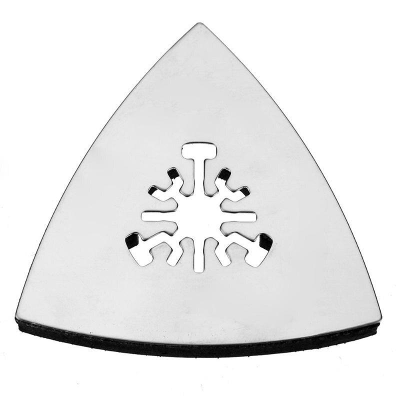 1 Pcs 80mm Dreieckige Schleif Pad Oszillierende Multi Werkzeuge Edelstahl Dreh Werkzeuge Für Große öffnung, Power Tool