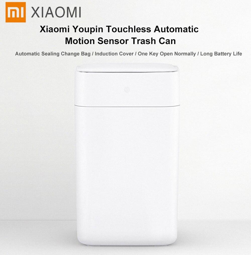 Xiaomi Mijia T1 Intelligente Induction Automatique détecteur de mouvement poubelle 15.5L Grande Capacité Smart Intelligente poubelle à détecteur Bin