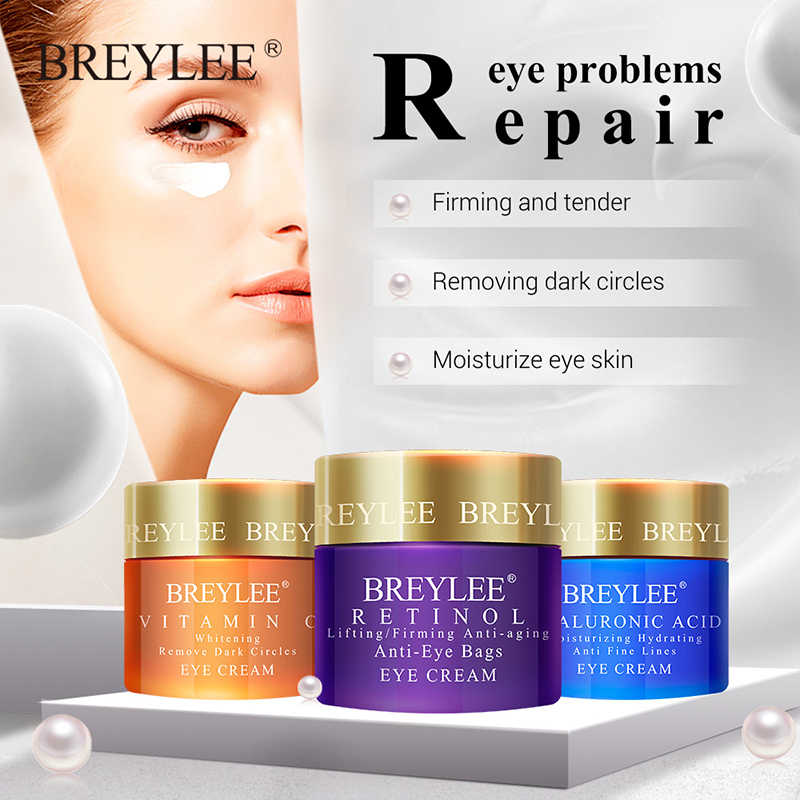อัพเกรด Eye Cream Eyes เซรั่ม Hyaluronic Acid Moisturizing Ageless Retinol Anti Wrinkle Firming Vitamin C Whitening Skin Care 20g