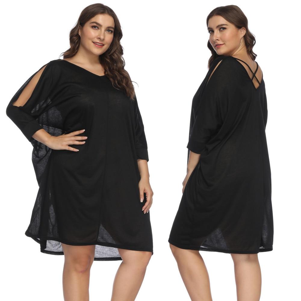 XXL Plus Size Bikini Dress Women Bikini Cover Up Large Size Women Beachwear Summer Swimsuit Cover Ups Woman Robe Solid
