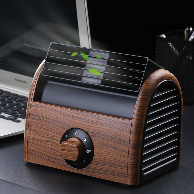 Mini- Small Home Electric Fan Dormitory Air Conditioner Charge Small Fans Office Desktop Student Bed Nothing Leaf Fan