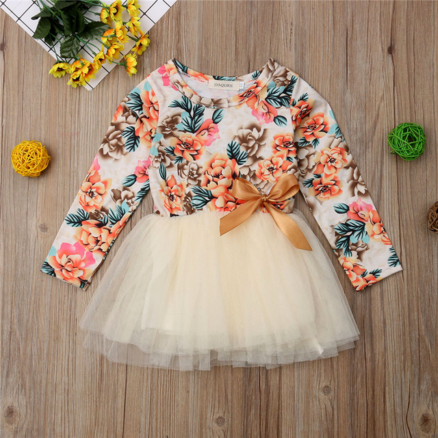 8383a0771 1 6Years Toddler Kids Baby Girls Floral Party Pageant Tutu Princess ...