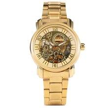 メンズ腕時計自動自己巻機械式時計スケルトン中空ダイヤル高級腕時計ステンレス鋼ストラップ
