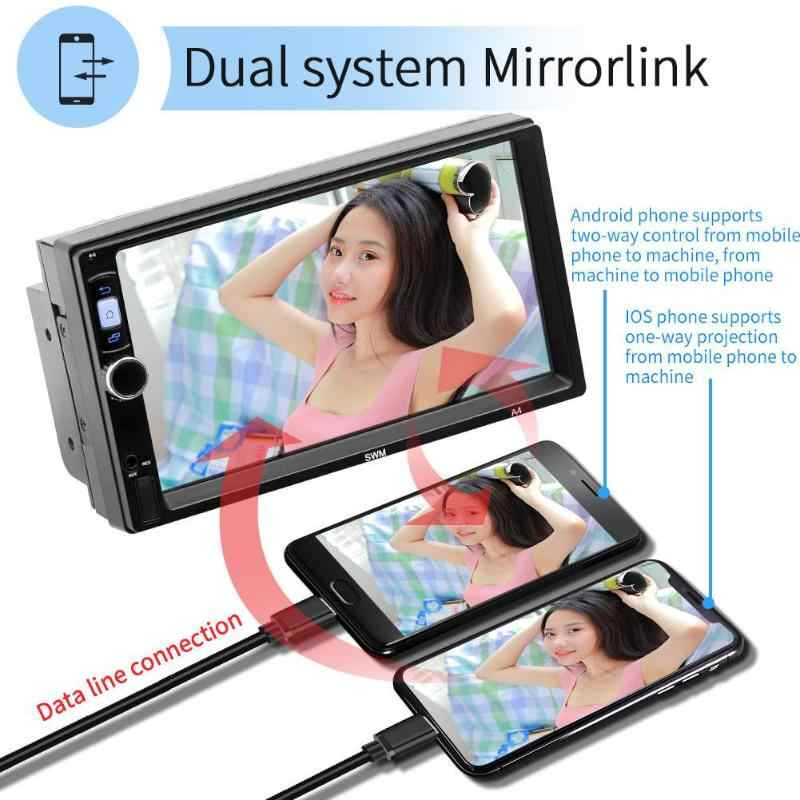 7 Inch A4 2 DIN Android 8.1 Mobil MP5 Player Layar Sentuh Gps Navi FM Radio Wifi Bluetooth 1GB 16GB Multimedia Stereo Video Player