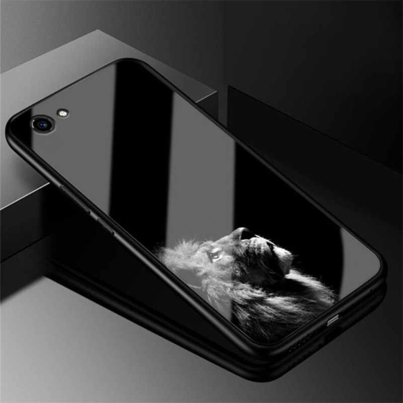 """Роскошная стеклянная крышка для vivo Y81 чехол 6,22 """"Жесткий Чехол для vivo Y81 мягкий чехол для телефона силиконовый бампер Y 81 Coque Funda TPU Frame"""