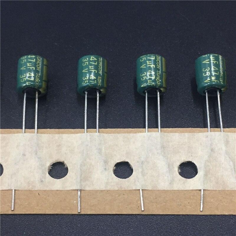 10Pcs/100Pcs 47uF 35V SUNCON(SANYO) SAX Series 6.3x7mm 35V47uF Low Impedance  Aluminum Electrolytic Capacitor