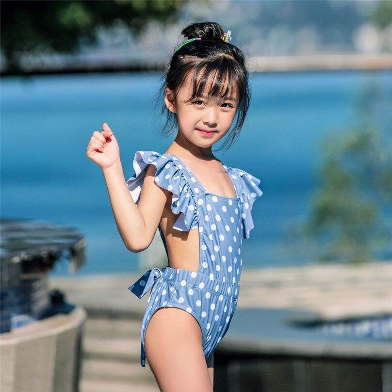 Baby Girls Swimwear One Piece Swimsuit Little Kids Bathing Suit Suspenders Love Hearts Print Romper Cover Up
