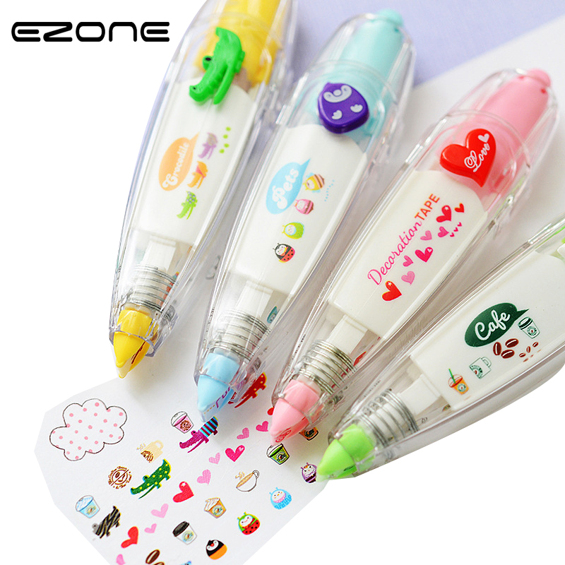 EZONE 1PC Cute Animals Correction Tape Scrapbooking Decor Tape School Office Supply Lovely Stationery Student Gifts Hot Sale