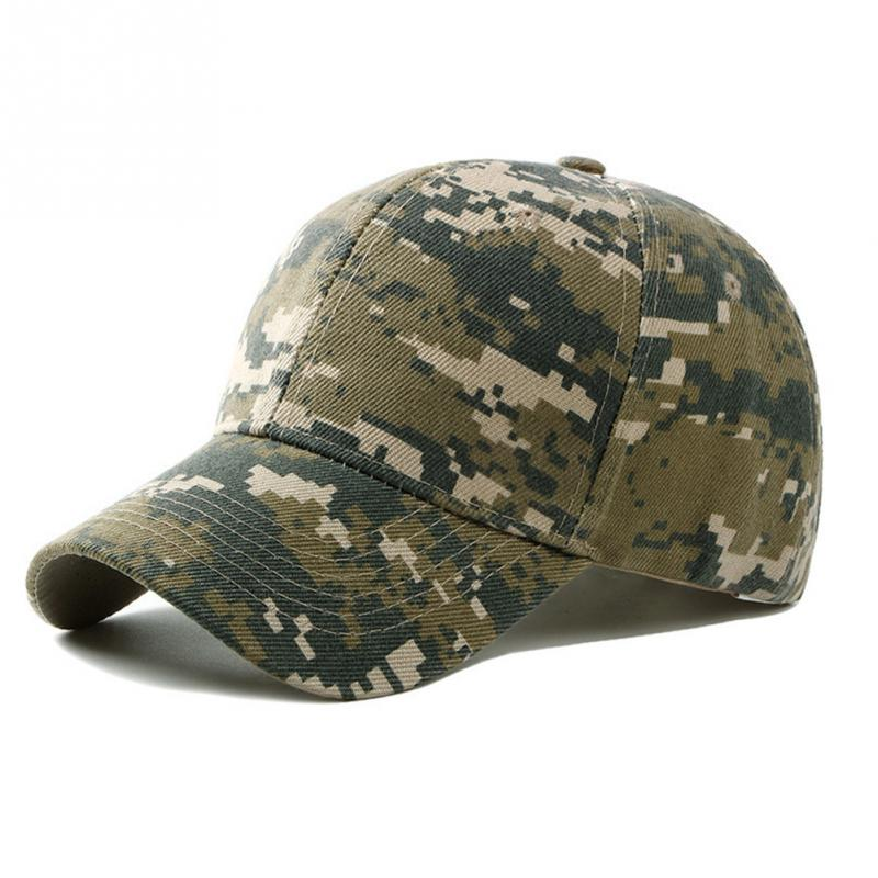 New Fashion Adjustable Unisex Army Camouflage Camo Cap Casquette Hat Baseball Cap Men Women Casual Desert Hat #H1020 3