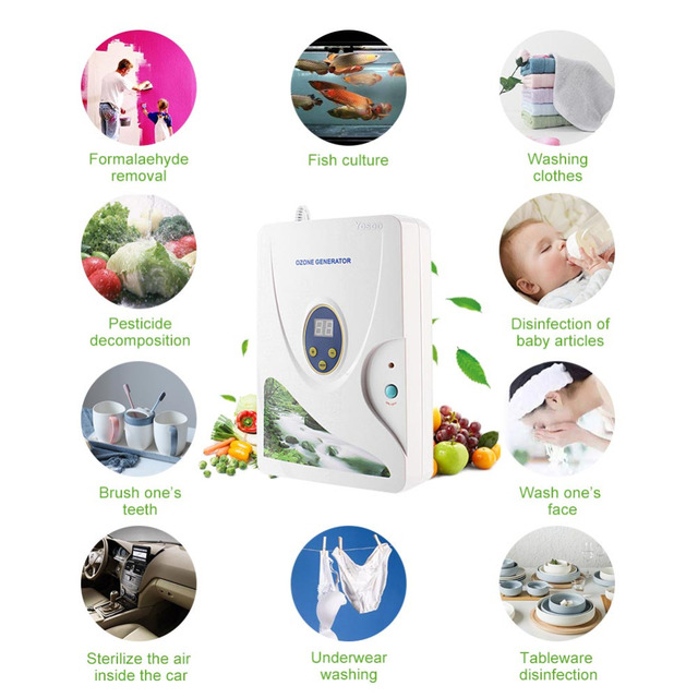 Hot 600mg Digital Ozone Generator Ozonizer Oil Meat Fruit Vegetable Sterilizer Fresh Air Purifiers