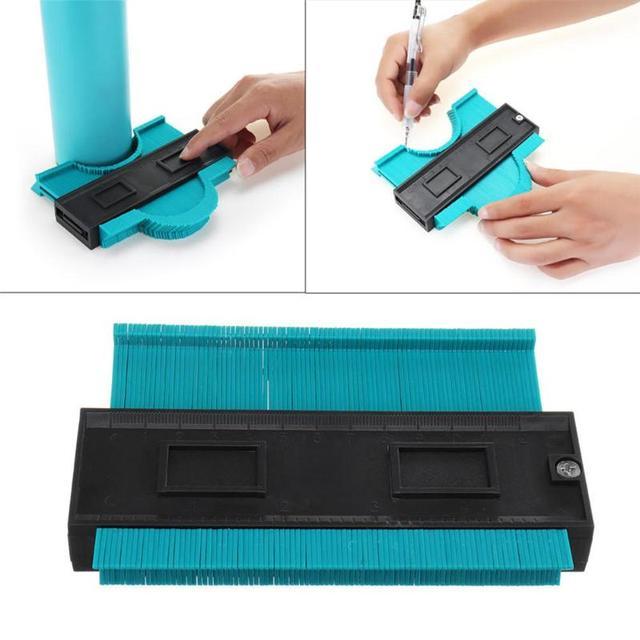 Universal  Gauge 5 Inch Plastic Profile Copy Contour Gauge Standard Pipe Tile Laminate Gauge General Tools Drop Shipping